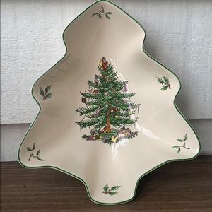 Spode Holiday - Spode Christmas Tree Dish NWT